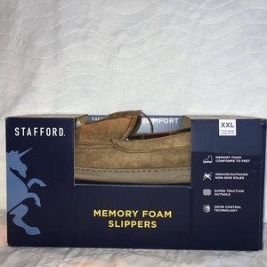 NIB Mens Stafford Memory Foam Slippers SzXXL 13-14
